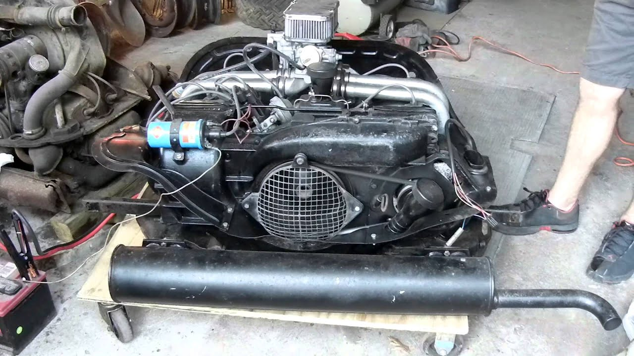 Vw air cooled 1700cc engine youtube for Type 4 motor for sale