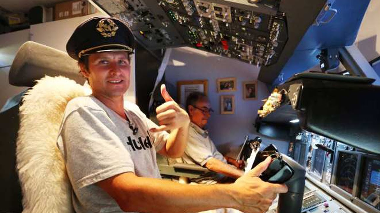Create Your Own Airplane Cockpit Simulator At Home Youtube