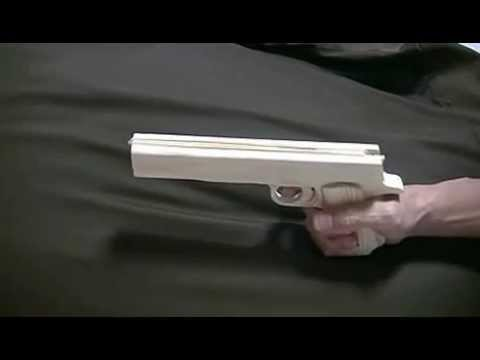 Blowback rubber band gun : Prototype-Colt Government Type