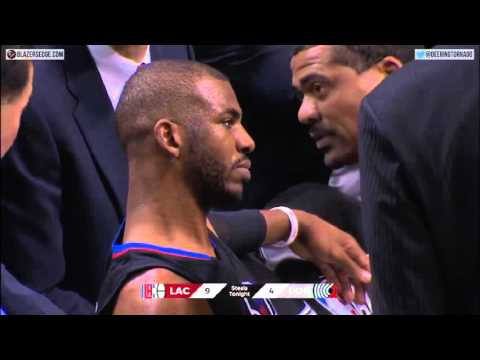 Chris Paul breaks hand against Blazers 2016 NBA playoffs game 4