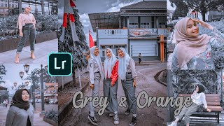 EDIT FOTO 🍁 GREY & ORANGE ALA SELEBGRAM | LIGHTROOM CC
