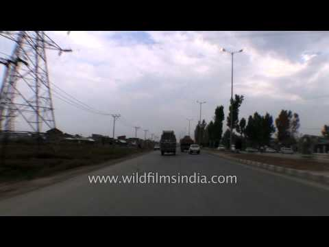 Driving around Srinagar, Kashmir, on the bypass - Part 2