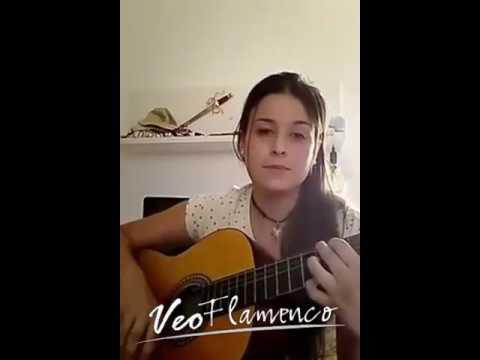 "Aranxa cantando ""Vivir mi vida"" de Marc Anthony (Version Flamenca)   VEOFLAMENCO"