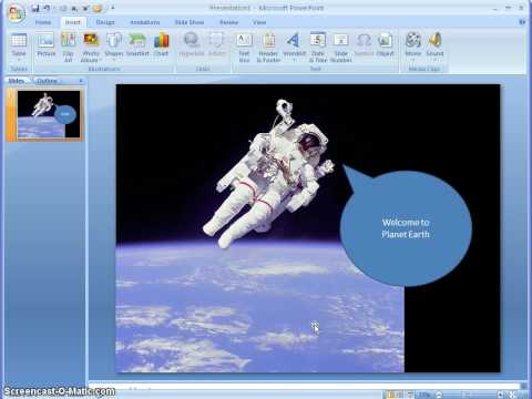 ScreenCast- How to use PowerPoint to edit images