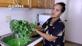 "Ethiopian Cooking ""Acorn Squash Leaves"""