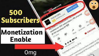 monetization enable | Before 1000 sub & 4000 Watch hours