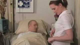 Hot sexy nurse straddles horny patient!