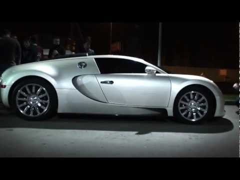 Bugatti Veyron VS Nissan GT R 35 - Уличные гонки в Москве