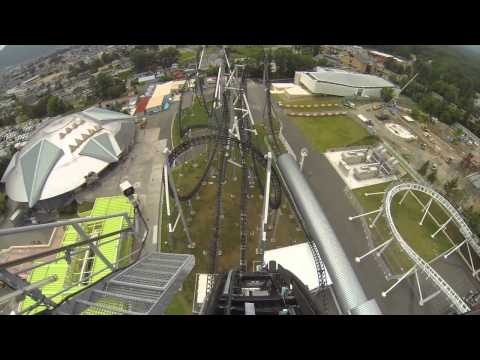 Takabisha Worlds Steepest Roller Coaster POV Fuji Q Highland Japan
