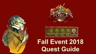 FoEhints: Fall Event 2018 Quest Guide in Forge of Empires