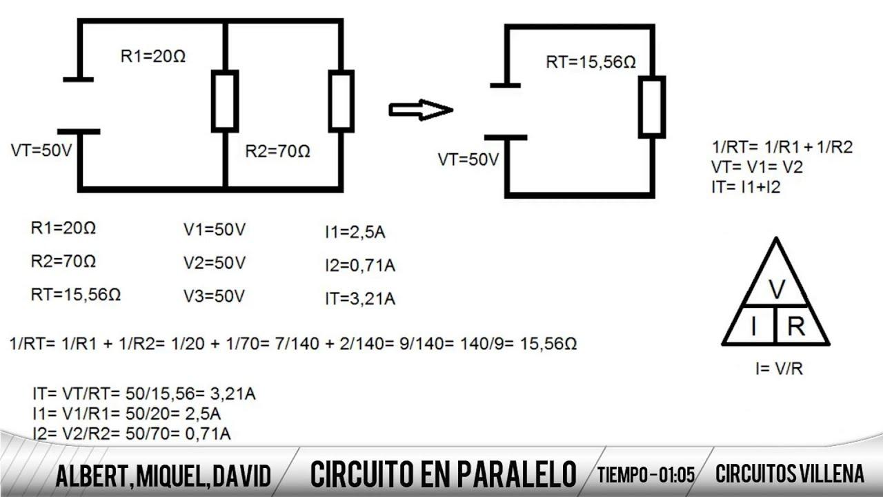 Circuito Paralelo : Como resolver un circuito en paralelo youtube