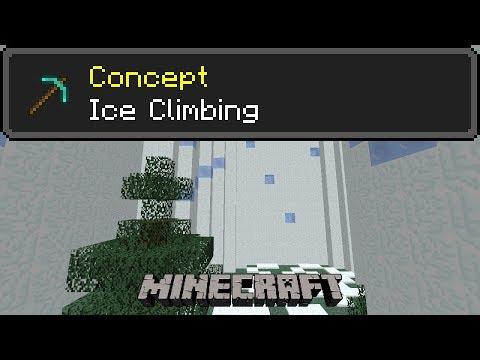 Ice Climbing Minecraft Concept