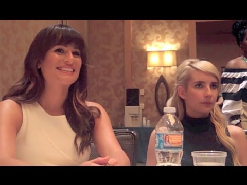 Scream Queens Lea Michele and Emma Roberts Interview