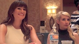 Scream Queens Lea Michele and Emma Roberts Interview