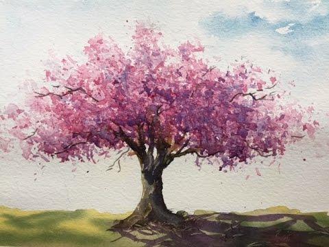Как рисовать вишневое дерево. Пропорции важны. how to draw the tree. Cherry tree