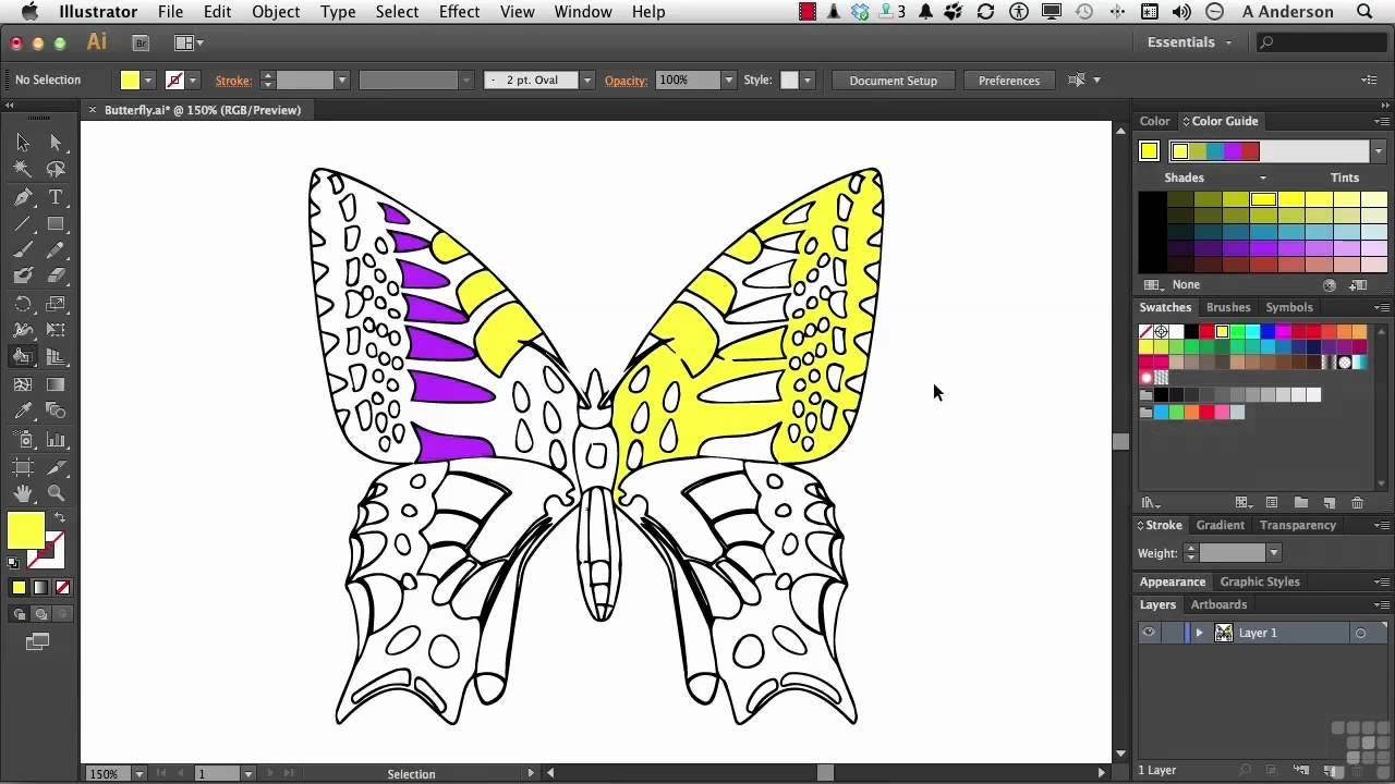 Illustrator Live Paint Bucket Tool Location