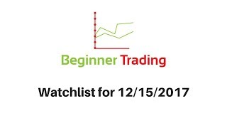 Beginner Trading's Watchlist for 12/15/2017 - Live Small Account Day Trading