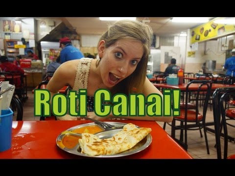 Eating Roti Canai near the Puduraya Bus Station (Restoran An