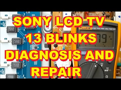 Sony KDL40XBR4 LCD L.C.D. TV 13 Blinks Repair Fix Backlight KDL 40 46 52 XBR4