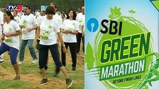 SBI Conducts Green Marathon At Gachibowli Stadium