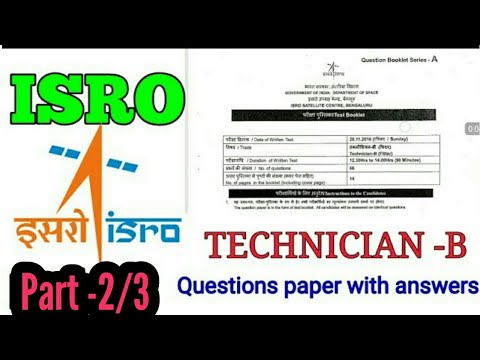 isro question paper with solution by special techno part -2