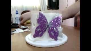 porta velas mariposa fanal
