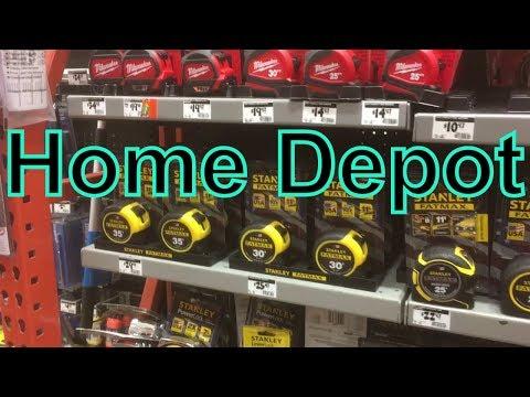 Хозяйственный магазин в США Home Depot товары сделанные в Америке knife tape measure Made in the USA