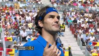 Federer gives the scientific explanation why the ball bounced twice