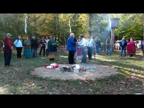 MOTHER EARTH'S CREATIONS POW WOW GROUNDS, OSSIPEE, NH;  A WEDDING, PART 1