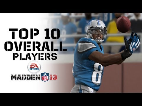 The Top 10 Overall Players in Madden NFL 13 with Ratings Correspondent Marshall Faulk!