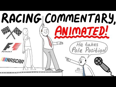 Crazy Racing Commentary, Animated! F1 - NASCAR
