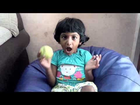 Baby playing india national anthem in tamil