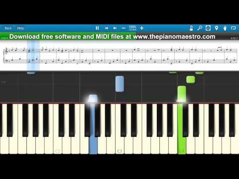 I'll Be Your Crying Shoulder  - Edwin Mccain -- Piano Lesson With Synthesia video