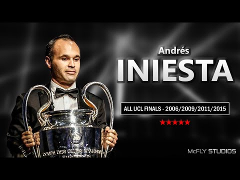 Andrés Iniesta ● ALL UCL FINALS 2006/2009/2011/2015 ● 1080p HD