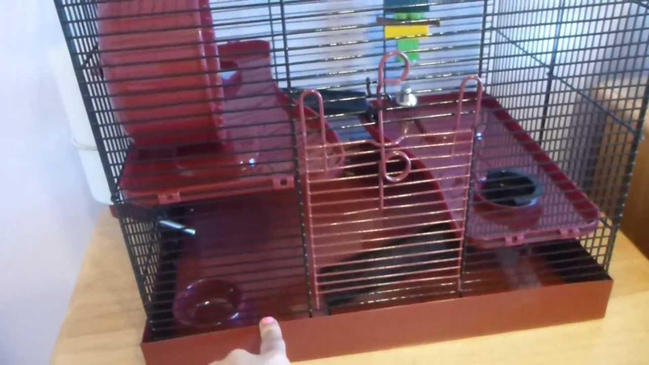 syrian hamster cage youtube. Black Bedroom Furniture Sets. Home Design Ideas