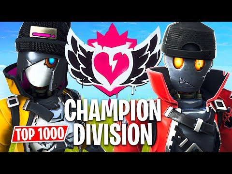 Fortnite CHAMPION DIVISION Tournament!! *Top 1000 Pro Players* (Fortnite Battle Royale)