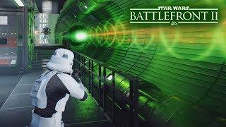 Star Wars Battlefront 2 - The Death Star Fires It's SUPER LASER! Epic Galactic Assault Gameplay!