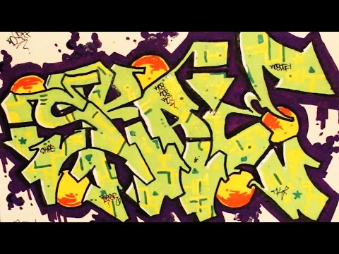 REDBOOK PAGE 2: SKAE GRAFFITI SPEED ART!