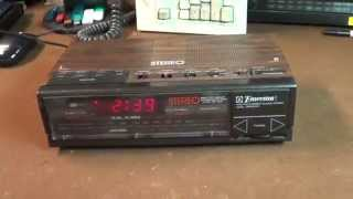 Emerson RES5245 AM/FM Stereo Clock Radio Overview and Demonstration