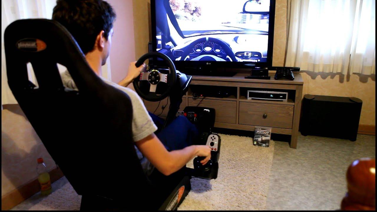 Lorenzo Ft Playseat Gt G27 Logitech Racing Wheel Youtube