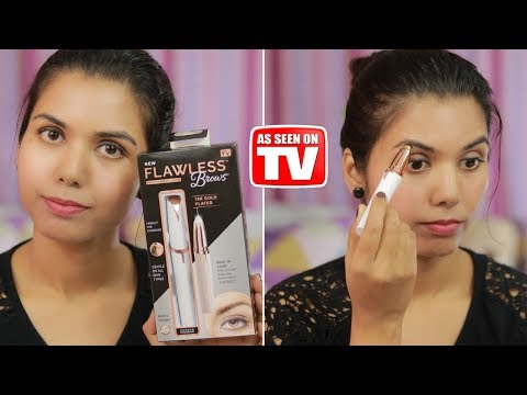 FLAWLESS Brows Hair Remover Detailed Demo & Review #flawlessbrows    omnistyles