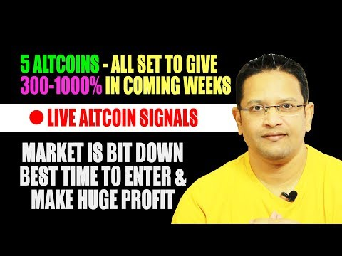 5 ALTCOINS ARE READY TO GIVE 300-1000% PROFIT IN COMING WEEKS. Bitcoin Down But Altcoins Set to MOON