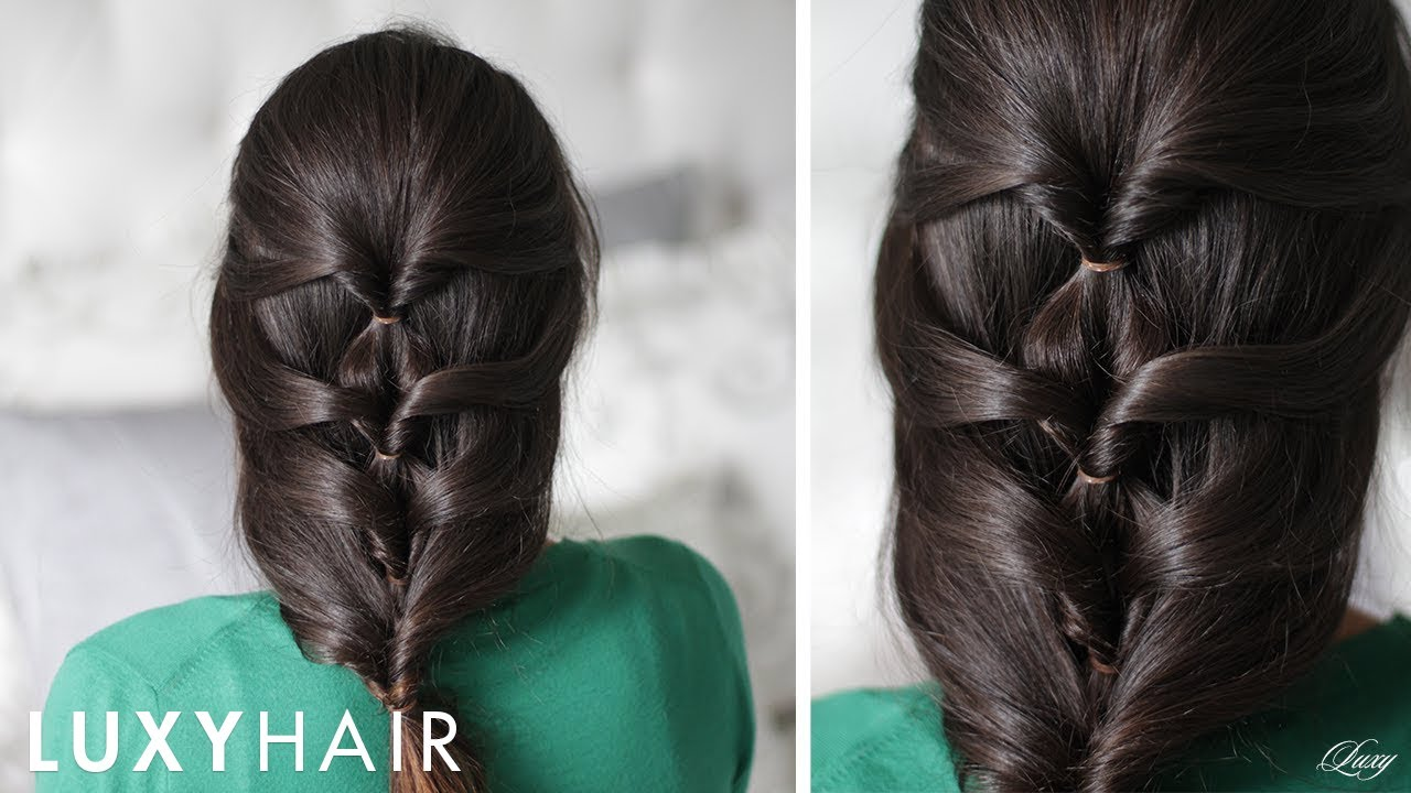 Simple Hairstyles For Long Hair Youtube : Layered Twist Around Hairstyle - YouTube