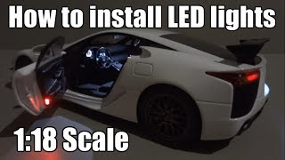 How to install LED lights in a model car