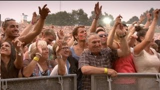 Grandparents visiting Tomorrowland to see Dimitri Vegas & Like Mike