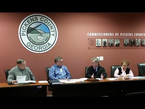 Pickens County Commissioners Called Meeting ~ February 4, 2016