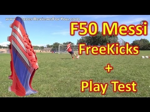 Messi Adidas F50 adizero miCoach 2 Review - Freekicks + Play Test