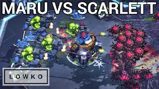 StarCraft 2: INCREDIBLE SKILL! (Maru vs Scarlett)