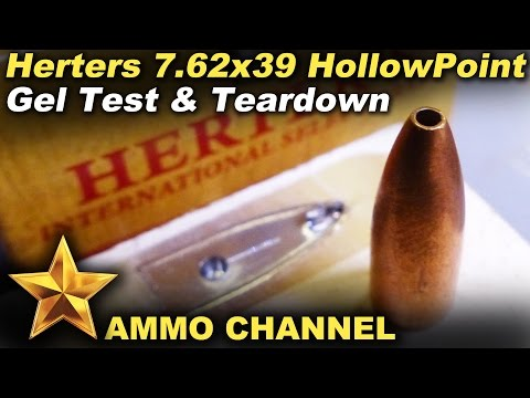 Herters 7.62x39 Hollow Point test and teardown
