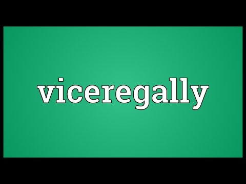 Header of viceregally